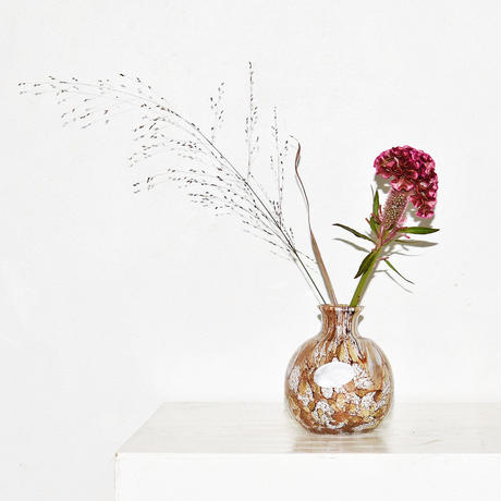 Marble Ball Flower Vase(W11×H13)/BRONZE