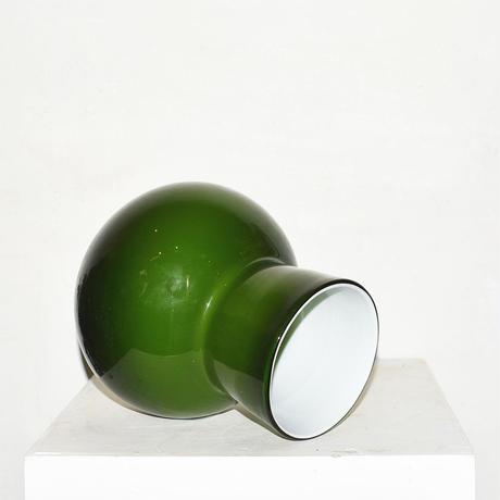 Flask Flower Vase(W17.5×H21)/GREEN