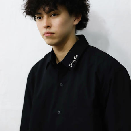 Dimple襟ロゴシャツ