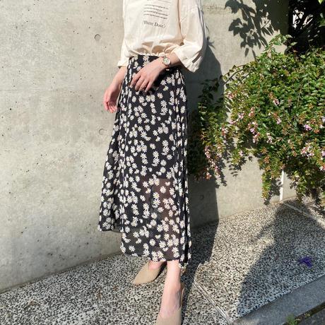 花柄シアースカート