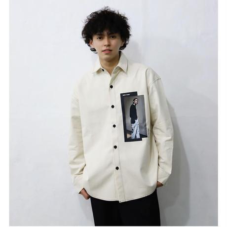 フロントプリントシャツ