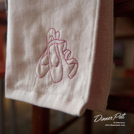 Dinner Pati Petit/オリジナルトゥシューズ刺繍入りタオル