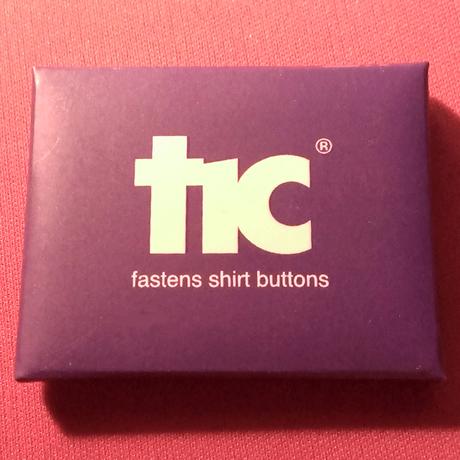 針と糸を使わずにボタンがつけられる!魔法の道具【tic】【パープル】1pack(4個入り)