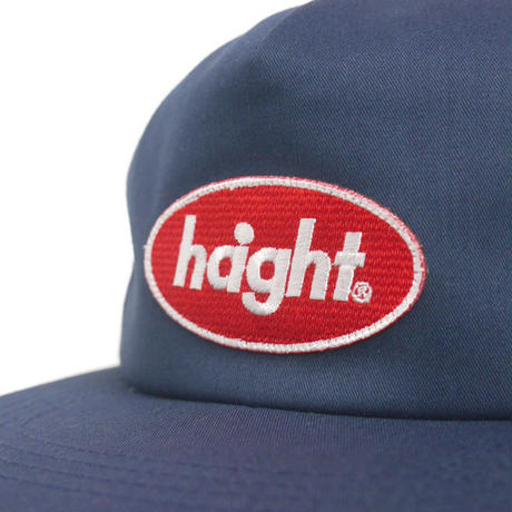 HT-W186005 /  ROUND  LOGO PATCH  TRUCKER CAP - NAVY