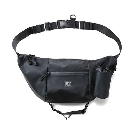 HT-G187002 / WATERPROOF SHOULDER BAG - BLACK