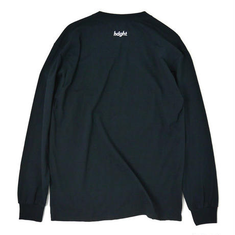 HT-W198004  / HONEY POT L/S Tee ft 4D7S - BLACK