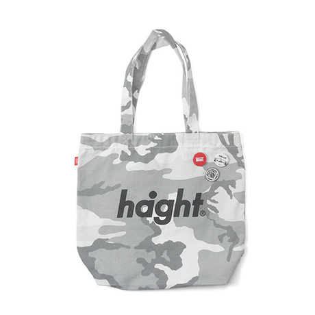 HT-G187008 / ROUND LOGO CANVAS TOTE BAG - W.CAMO