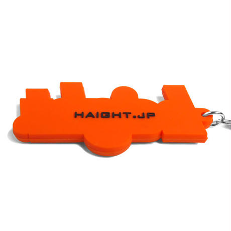 HT-G187013 / ROUND LOGO PVC KEY CHAIN  - ORANGE×BLACK