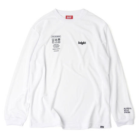 HT-W191001  / TAG DRY L/S Tee - WHITE