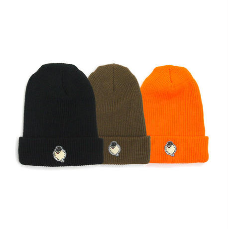 HT-W260001 / CLOUDON CUFF KNIT CAP - BLACK