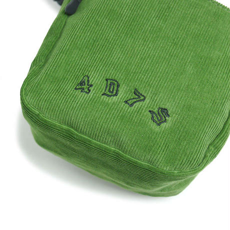 HT-G198002 / CORDUROY  SHOULDER POUCH ft 4D7S - GREEN