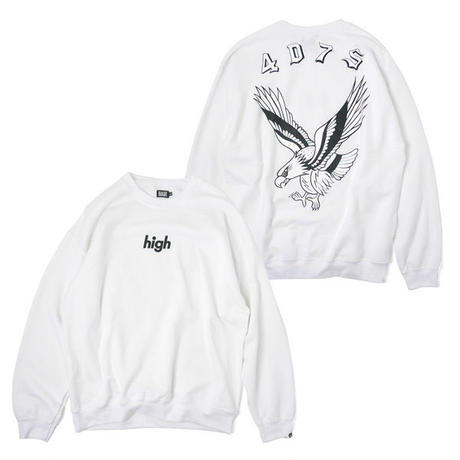 HT-W198007  / EAGLE CREWNECK SWEAT ft 4D7S - WHITE