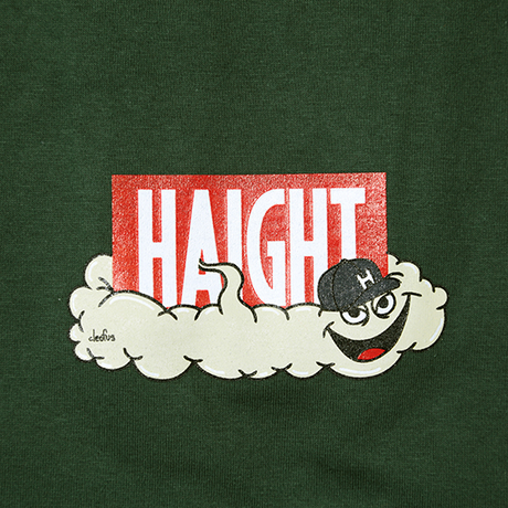 HT-W188002 / HAIGHT×CLEOFUS S/S Tee - D.GREEN