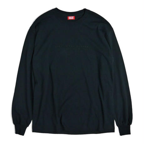 HT-W181004 / BIG CLOUDON L/S Tee - BLACK