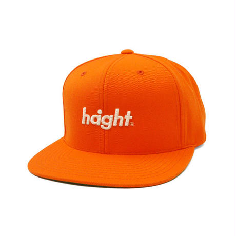 HT-W186001 / ROUND LOGO SNAP BACK CAP - ORANGE