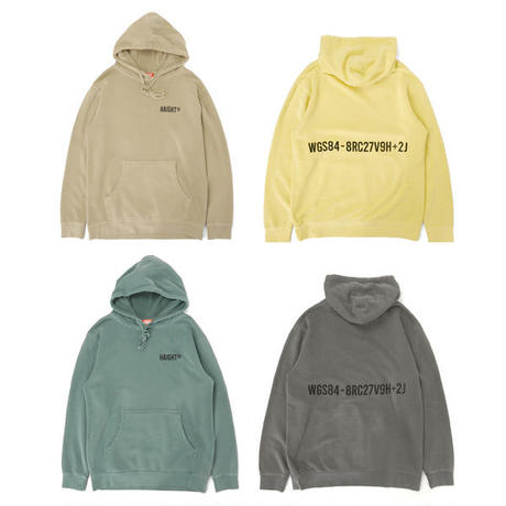 HT-W230003 / (R)LOGO PIGMENT DYED HOODIE - PG.GREEN