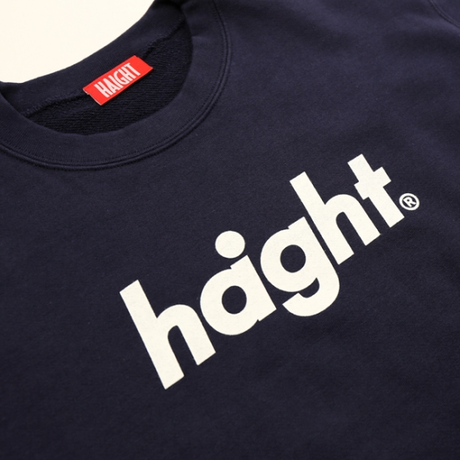 HT-W173001 / ROUND LOGO CREW SWEAT - NAVY