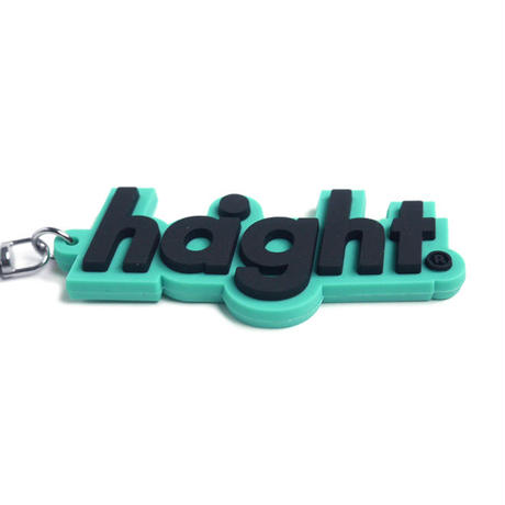 HT-G187013 / ROUND LOGO PVC KEY CHAIN  - TEAL×BLACK