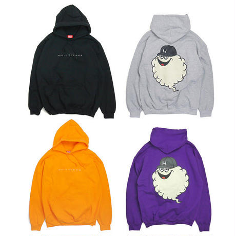 HT-W230001  / BIG CLOUDON HOODIE - NEON ORANGE