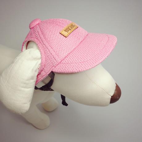 キャップ(小型犬用)濃ピンク
