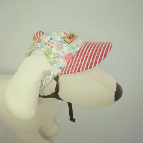 キャップ(小型犬用) アールグレイフラワー×ヒッコリー