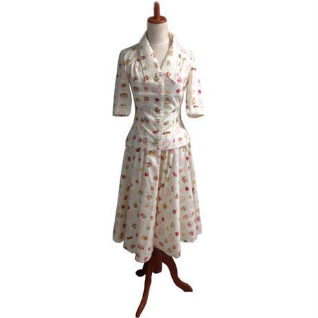ブラウス スカート セットアップ レディース 半袖 50年代風 Miss Candyfloss ミスキャンディフロス Bobby Ivy