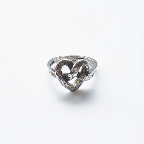 #12 silver pretzels ring