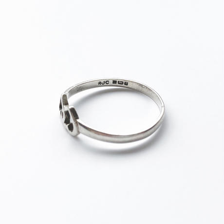 #18 silver double heart ring