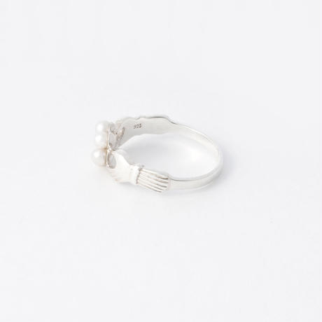 special pearl flower ring