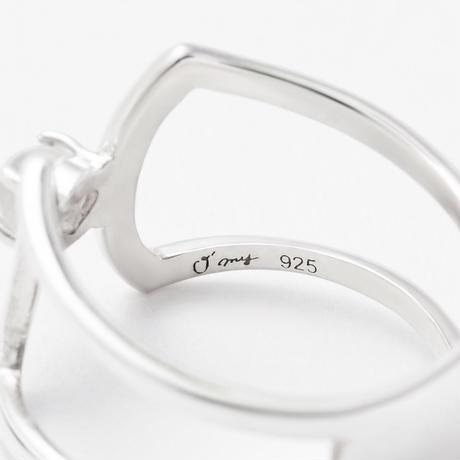 celosia ring / gold / magnesite