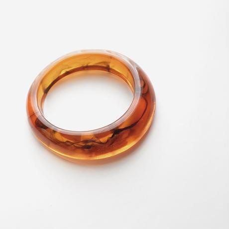 orange clear bangle