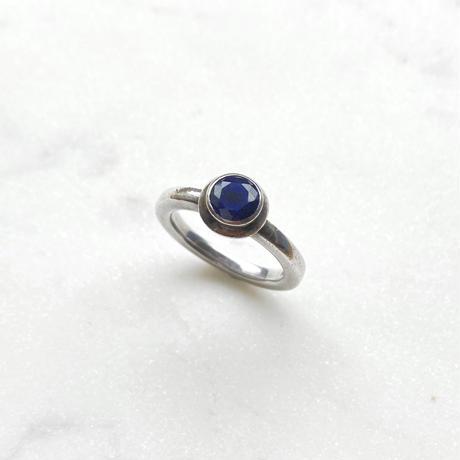 #13 silver bluestone ring