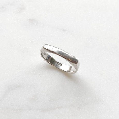 #12 silver square ring