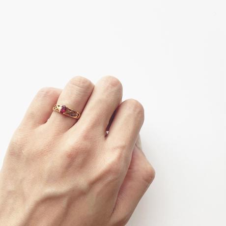 #8 18KGP redstone ring