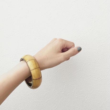 mustard bamboo bangle