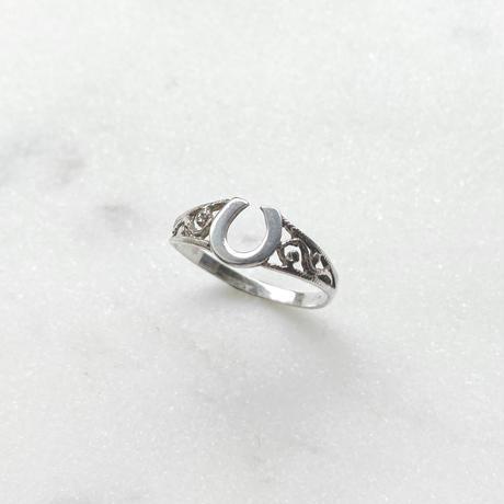 #14 silver horseshoe ring