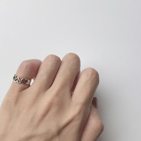 #3 silver heart ring