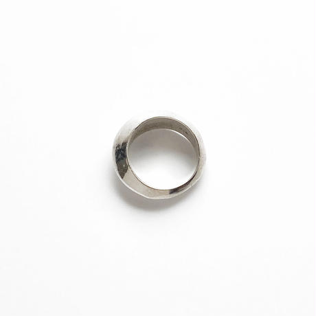 #13 silver pointed ring