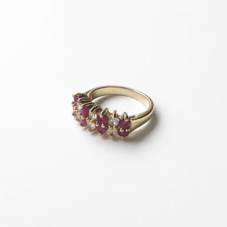 #13 pink&clearstone ring