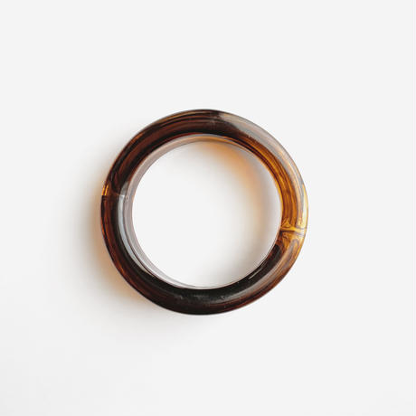 brown clear bangle