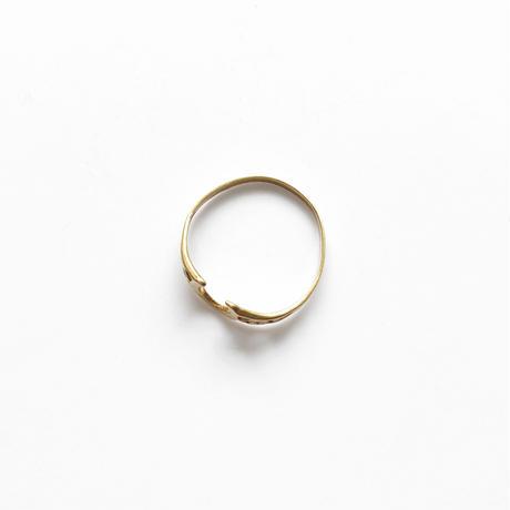 #12 18KGP horseshoe ring