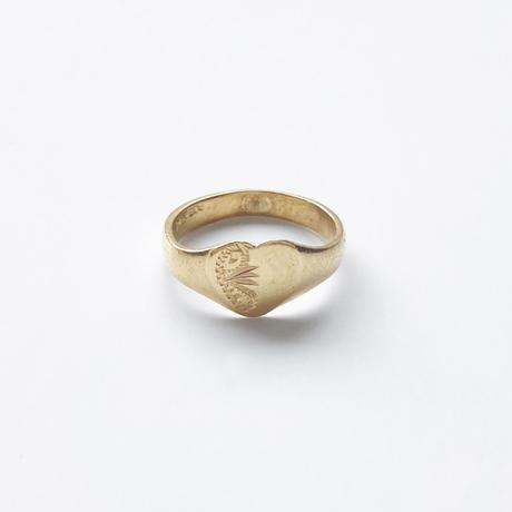 #1 18KGP heart signet ring