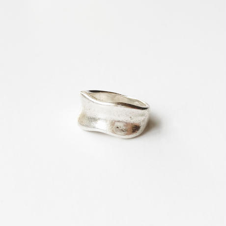 #11 silver wave ring