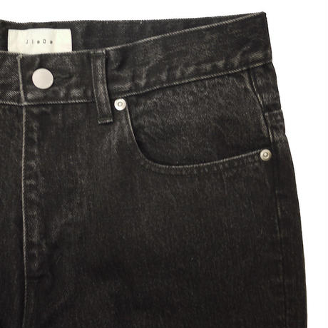 JieDa USED FLARE DENIM PANTS (BLK) Jie-STD-PT05-USED