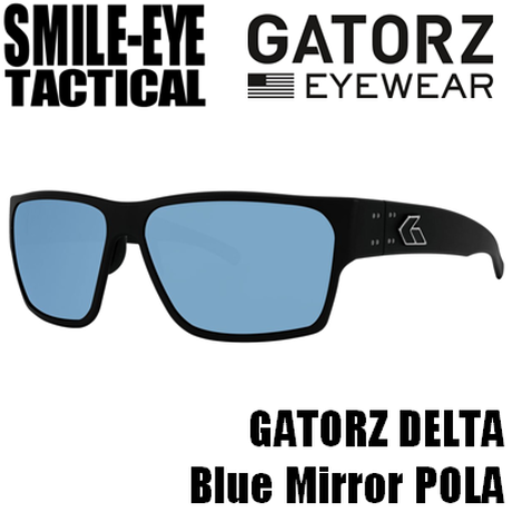 GATORZ DELTA MATTE BLACK SMOKED POLARIZED W/ BLUE MIRROR