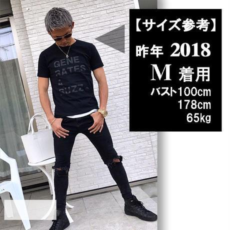 Tシャツ   Star★D 刺繍★White★ 2019