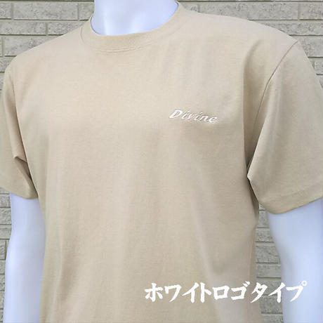 Tシャツ   Divine  刺繍☆ライトベージュ☆ 2021