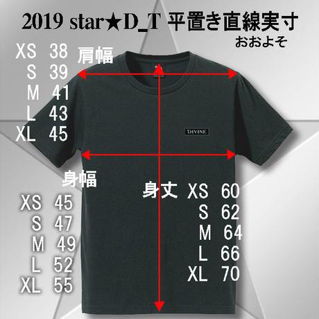 Tシャツ   Star★D 刺繍★BLACK★ 2019
