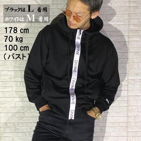 ジップアップパーカーDIVINE★ブラック★MPスタイル【フルオーダー】