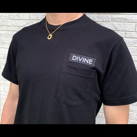 Tシャツ   DIVINE 刺繍★BLACK★ 2020